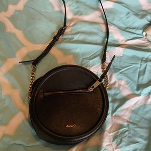 Black aldo tambourine crossbody